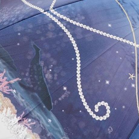 A0823 LINE DROPS Disney 晴雨兼用日傘 USED美品 アリエル リトルマーメイド UV 50cm 中古 ブランド