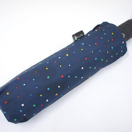 HUS 自動開閉式折りたたみ傘 USED美品 ペイントミニドット 54cm 男女兼用 中古 ブランド FA1509