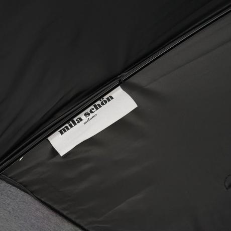 mila schon ミラショーン 晴雨兼用日傘 USED極美品 フラワーボーダー オーガンジー UV 遮光 遮熱 47cm 中古 ブランド A3553