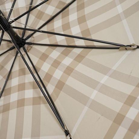 BURBERRY バーバリー 高級傘 USED美品 サンドベージュ 60cm 中古 ブランド S3350