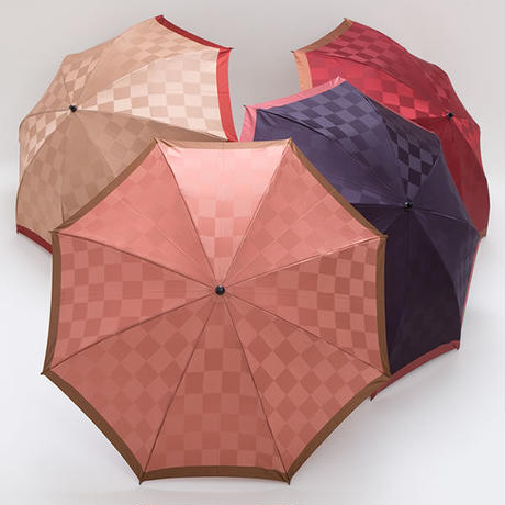 【日本製】軽量 格子柄の傘 47cm/折りたたみ傘 [E24093 B/C/E/F]