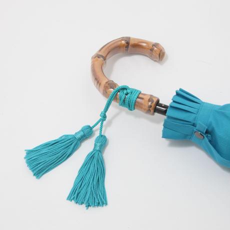 【日本製】高級 寒竹手元の晴雨兼用傘 50cm/折畳傘 [W9416 BL/BE/TA]