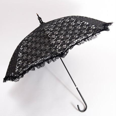 -12℃清涼 フリルの傘 50cm/長傘 晴雨兼用 [OST44BL/N/W/BE]