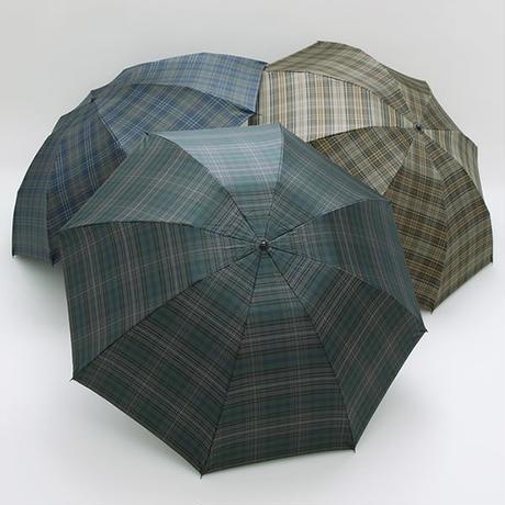 【日本製】 モダンなチェック柄の傘 60cm/ミニ折たたみ傘 [E15501 A/B/C]