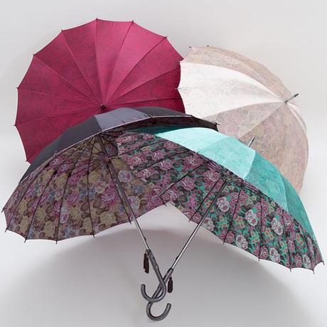 【日本製】16本骨  高級 大花柄がきれいな傘 55cm/長傘 [E21382 D/E/I/L]