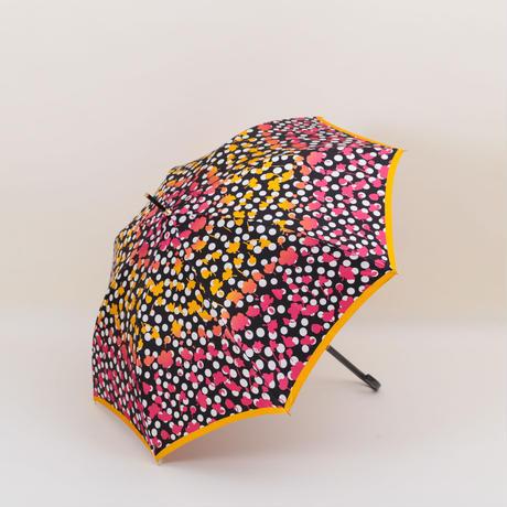 【日本製】ハナエモリ 水玉フラワー(UV加工)60㎝/長傘 耐風ジャンプ傘【HM68161-01BL/HM68161-04BG】