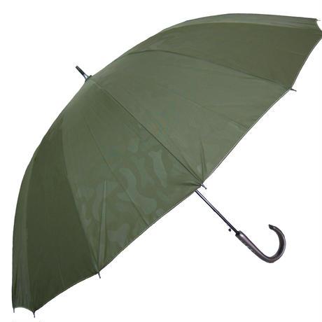 風につよい!16本骨ジャンプ式 エンボス加工 カモ柄 傘 (全3色) 65cm/長傘 [OSK023 BL/NE/KH]