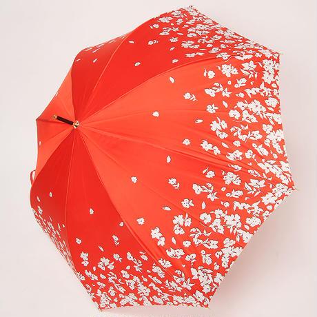 【日本製】NEW YORKER アウトラインシルエット花柄(UV加工)60㎝/長傘 ジャンプ傘【NY91011-04 OR/NY91011-04 NE】
