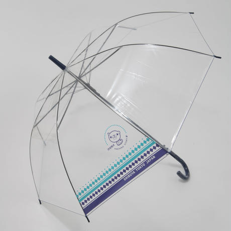 NEW!! 大判ジャンプ式 渋谷まちけんビニール傘【市松デザイン】 60cm/長傘 [NM60JPICHI]