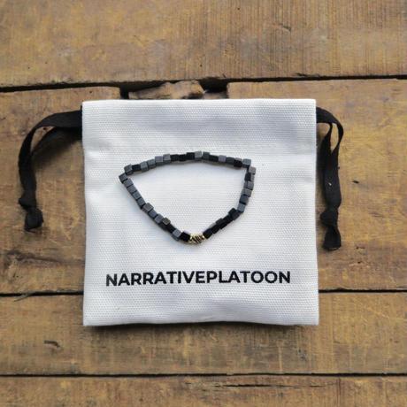 NARRATIVE PLATOON CUBE bracelet グレー