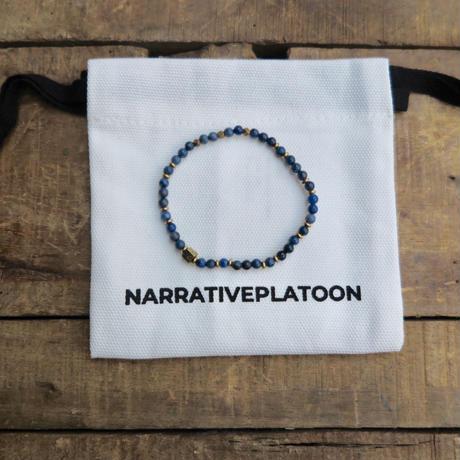 NARRATIVE PLATOON slim bracelet navy