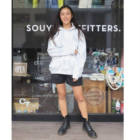 SOUYU OUTFITTERS. SOUYUMAN TIE DYE FOODED SWEAT   F20-so-21