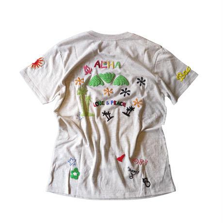 birdog手刺繍AlohaTシャツ
