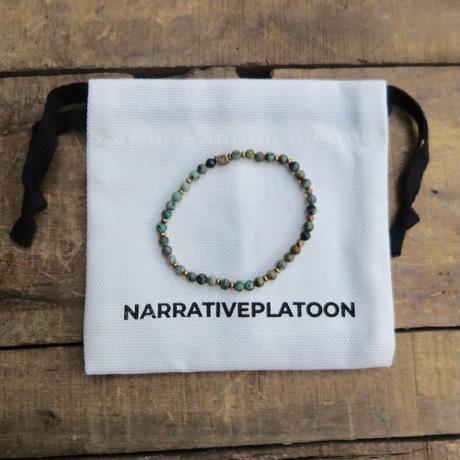 NARRATIVE PLATOON slim bracelet turquoise