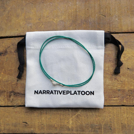 NARRATVEPLATOON color beads 2way necklace peal green
