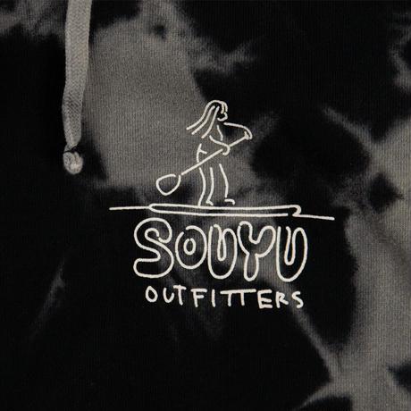SOUYU OUTFITTERS. SOUYUMAN TIE DYE HOODED SWEAT/s20-so-24a