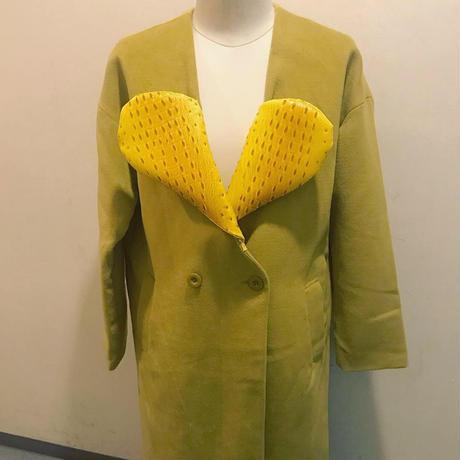 ハート襟ロングコート