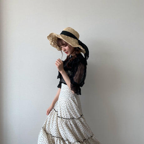 natural wire straw hat