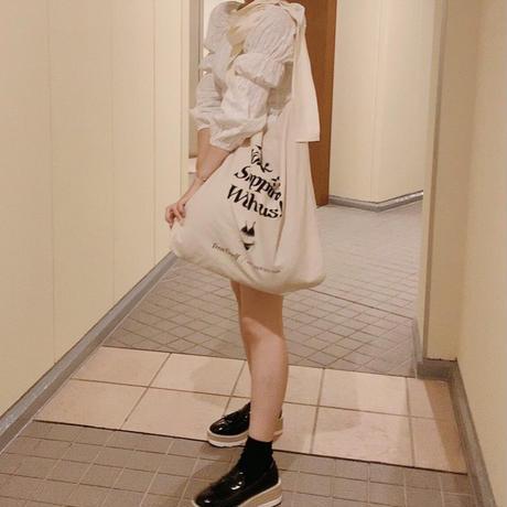 ribbon lingerie tote bag(ivory)