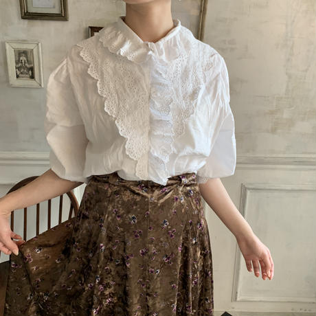 retro cotton lace blouse