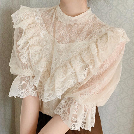 antique lace tops(ivory)