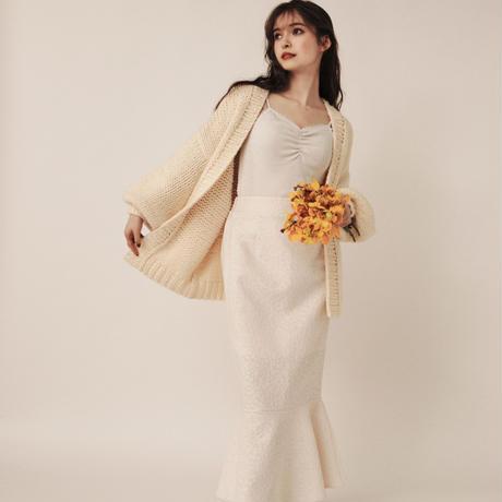jacquard mermaid skirt (cream)