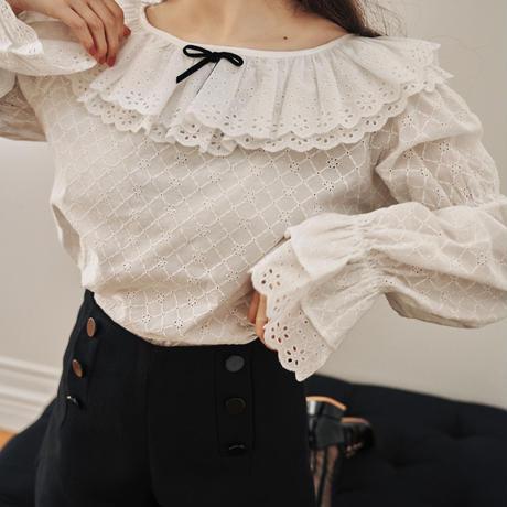 whip cream blouse