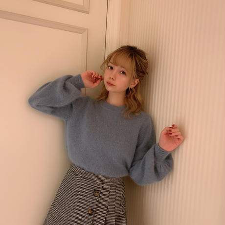 ice blue mohair knit