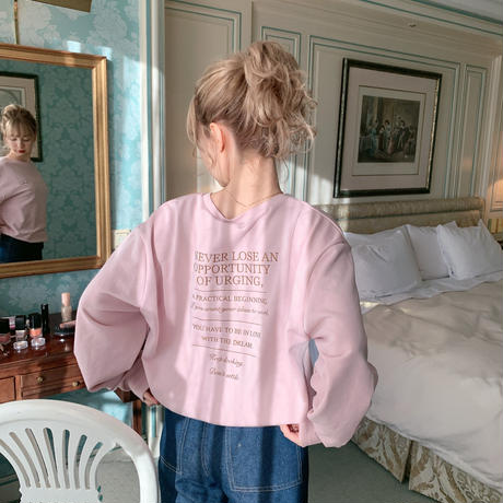Love and Dream sweat(pink)