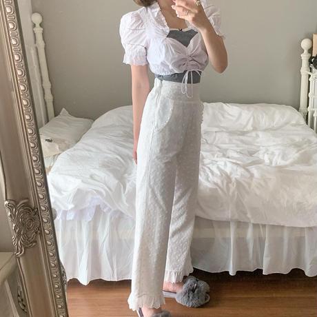 cotton frill lace pants