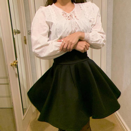 high-waist flare skirt