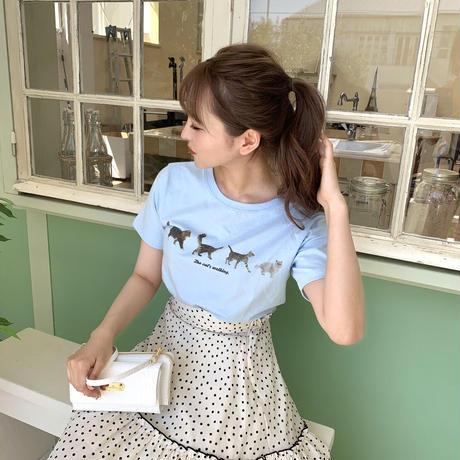 Treat cat walk T-shirts (blue)