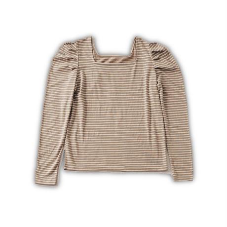 border ruffled sleeve tops (beige)