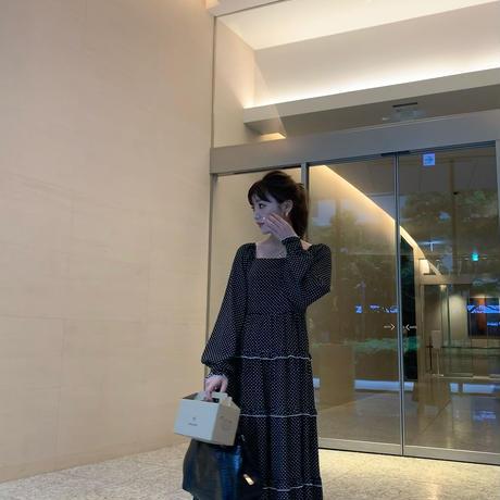 dot mellow long dress