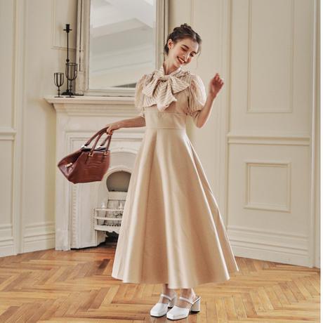 classic elegant one-piece(beige)ar8月号掲載