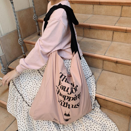 ribbon lingerie tote bag(pink)