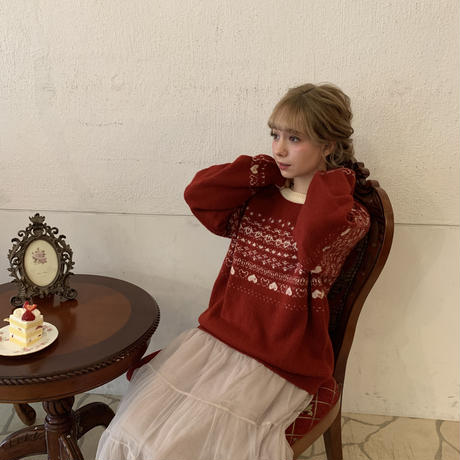 Treat LOVE sweater(Red)