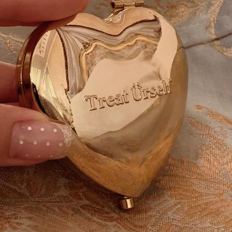 antique gold heart mirror