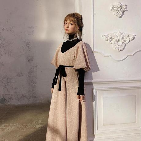 Jacquard antique occasion dress