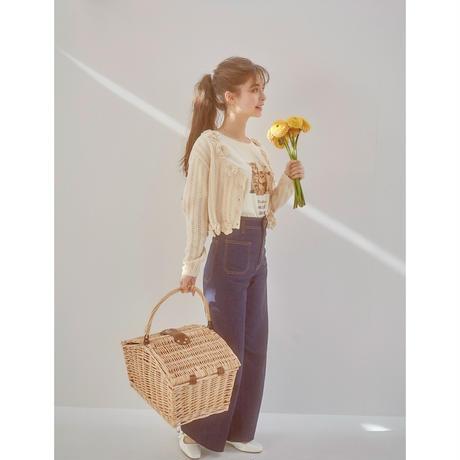 handmade flower knit cardigan