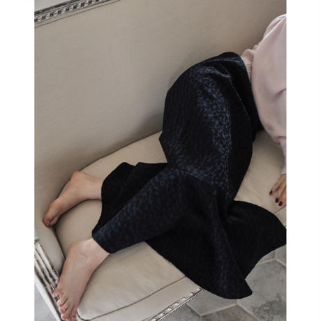 jacquard mermaid skirt (black)