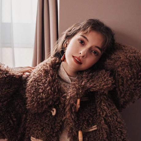 Teddy bear boa short jacket