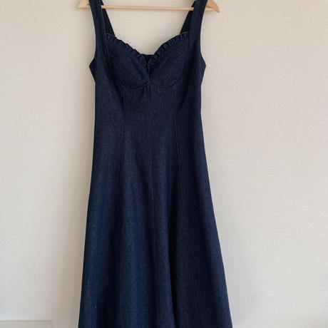 denim flare one-piece(blue)
