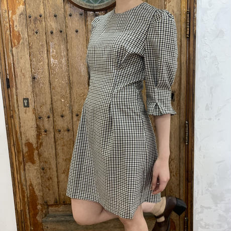 gingham check retro one-piece