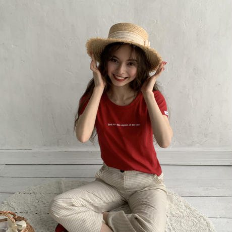 apple pie T-shirts (Red)