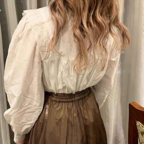 white lace vintage blouse