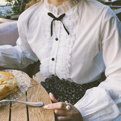 French classic lace blouse