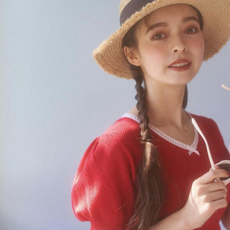 vintage ribbon knit tops