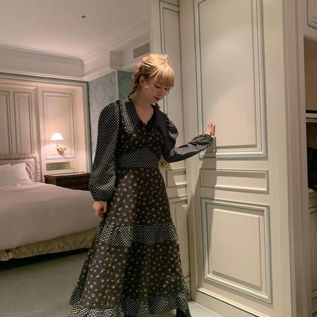 80s vintage pattern dress