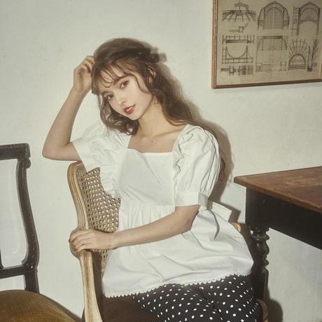 back ribbon tunic blouse(white)